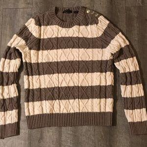 Jeanne Pierre striped sweater size Large